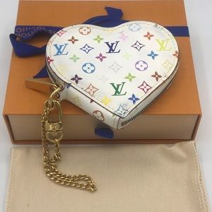 Louis Vuitton Murakami Multicolor Heart Coin Case
